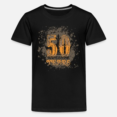 50 years birthday grunge Great years - Teenage Premium T-Shirt