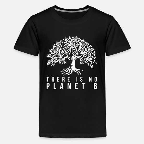 Milieu T-shirts - Earth Day Milieu Aarde - Teenager premium T-shirt zwart