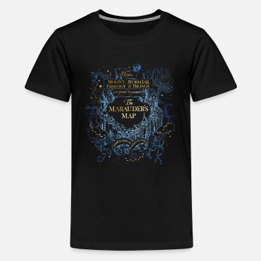 Officialbrands Harry Potter The Marauder's Map - Teinien premium t-paita