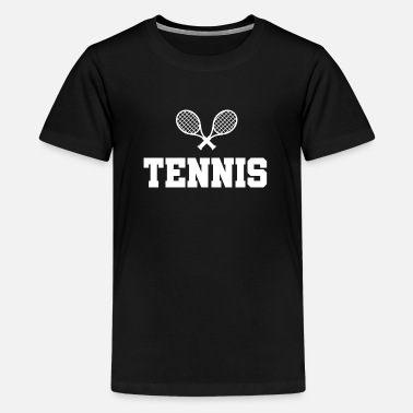 Tennisracket Sportcadeau - Teenager premium T-shirt