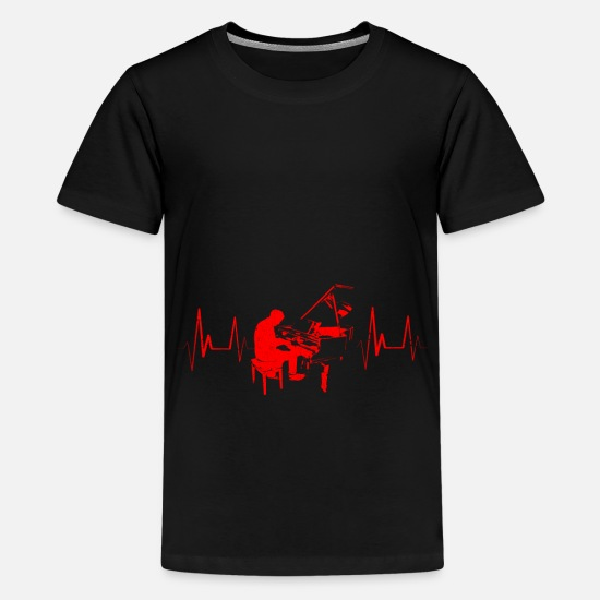 Gift Idea T-Shirts - piano - Teenage Premium T-Shirt black
