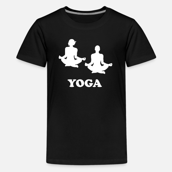 Gaveidé T-shirts - Yoga afslapning - Premium T-shirt teenager sort