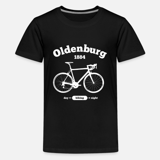 Oldenburg T-Shirts - Fahrrad Oldenburg - Teenager Premium T-Shirt Schwarz