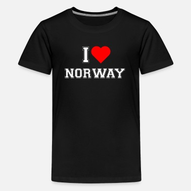 Norway I love Norway - Teenage Premium T-Shirt