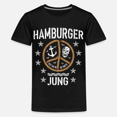 Jung 98 Hamburger Jung Peace Anker Seil - Teenager Premium T-Shirt
