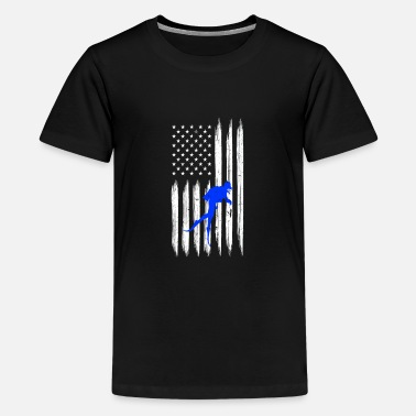 Taucher US Flagge - Teenager Premium T-Shirt