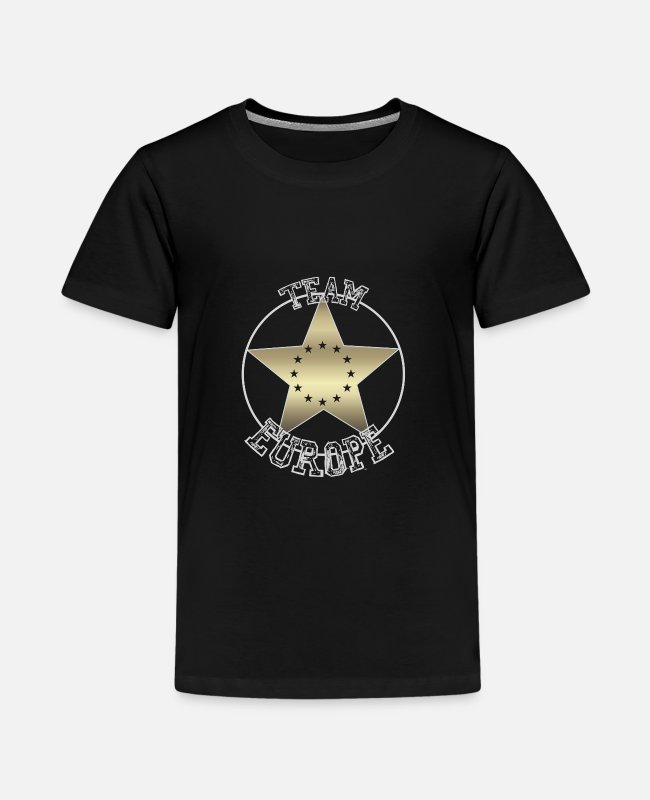 EU T-Shirts - Europe Flag Star Team Europe EU Eurasia Euro - Teenage Premium T-Shirt black