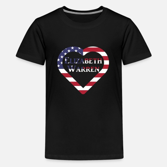 Lieben T-Shirts - Elizabeth Warren in US Heart US Election 2020 - Teenager Premium T-Shirt Schwarz