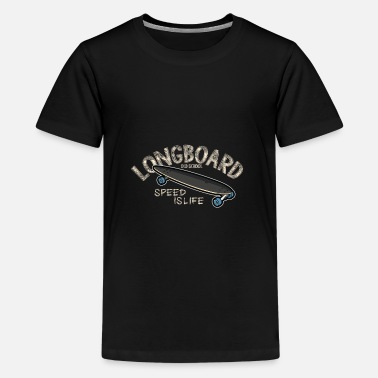 Longboard Old School Longboard - Teenager Premium T-Shirt