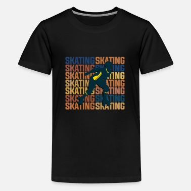Skates Roller-skating - Teenage Premium T-Shirt