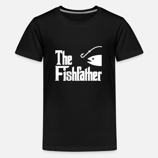 Gift Idea T-Shirts - Angler Fishing Fishing Fischer Fish Petri Heil - Teenage Premium T-Shirt black