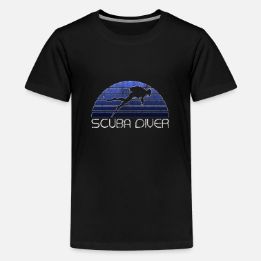 Scuba Diver | Diver vacation vintage gift - Teenage Premium T-Shirt