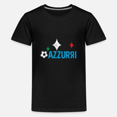 Azzurri Italia Azzurri Football Retro - Teenage Premium T-Shirt