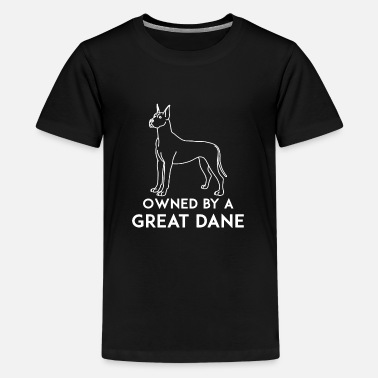 Great Dane Great dane - Owned by a great dane - Teenage Premium T-Shirt