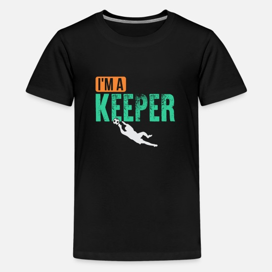 Goalkeeper T-Shirts - goalkeeper - Teenage Premium T-Shirt black