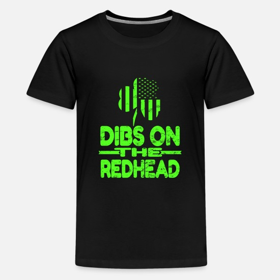 Dibs On The Redhead T Shirt T-shirts - Dibs On The Redhead Shirt - T-shirt premium Ado noir