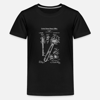 1915 Adjustable Wrench 1915 Patent Print Shirt, Wrench - Teenage Premium T-Shirt