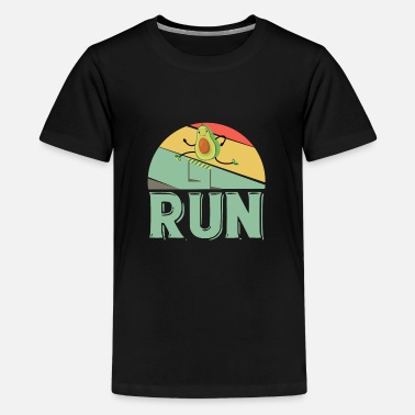 Kør avocado run runner marathon marathon runner - Premium T-shirt teenager