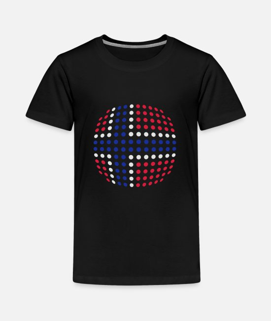 Cute T-Shirts - Norway flag (Dotted) - Teenage Premium T-Shirt black