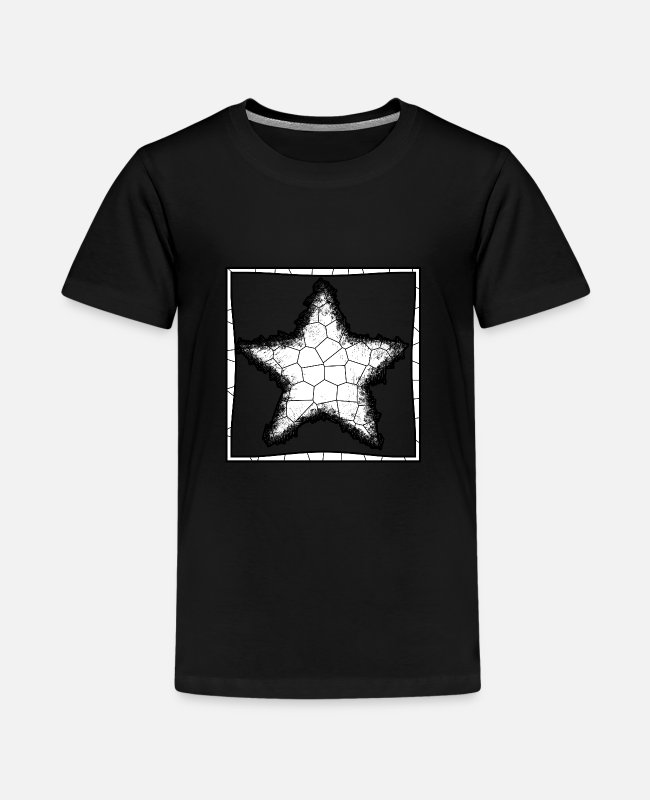 Tessellation T-shirts - Stjerneflettet mosaik - Premium T-shirt teenager sort