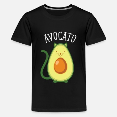 Avocado Avocato | Cute Cat Avocado Design - Teenager Premium T-Shirt