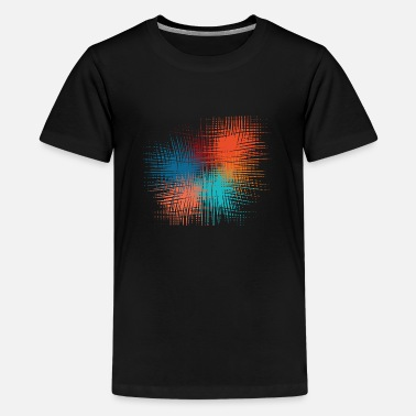 modern pattern colorful - Teenage Premium T-Shirt