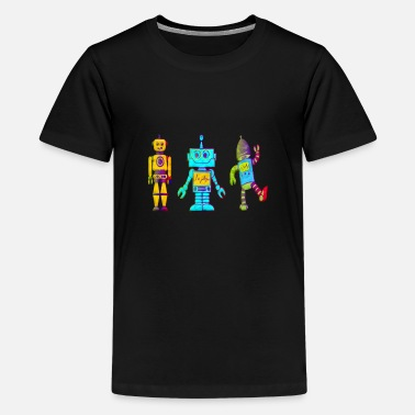 Kinderbild Roboter Kinderbild - Teenager Premium T-Shirt