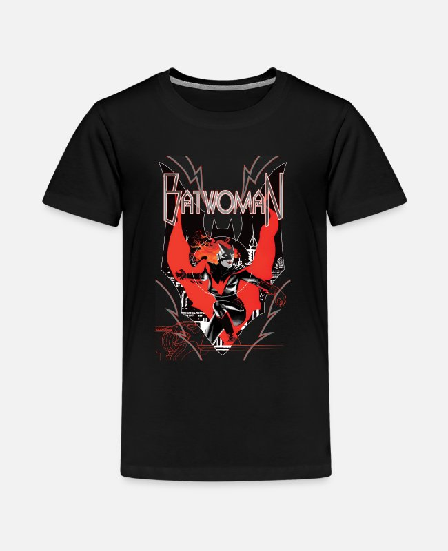 Batwoman T-shirts - Batwoman in Action Emblem - Teenager premium T-shirt zwart