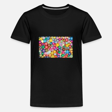 Colourful flowers - Teenage Premium T-Shirt