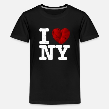 Ny I love New York, t-shirt - coeur d'amour cadeau - T-shirt premium Ado