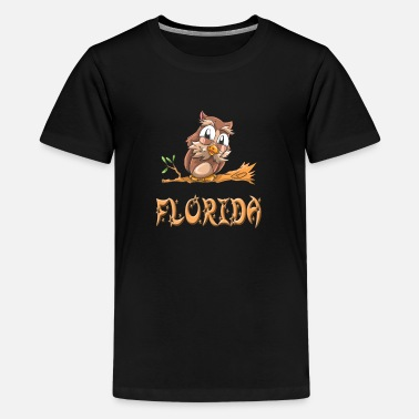 Florida Owl Florida - Teenage Premium T-Shirt