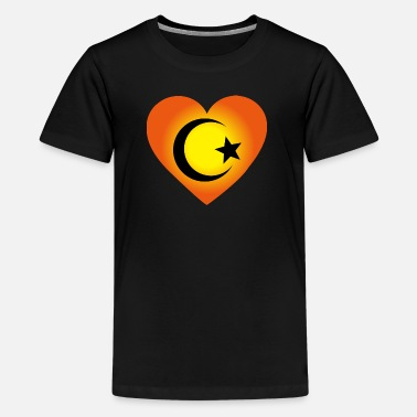 Ibrahim Love Islam Hart - Teenager Premium T-shirt