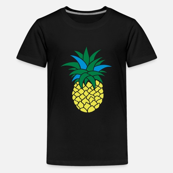 Frugt T-shirts - ANANAS STYLIZED - Premium T-shirt teenager sort
