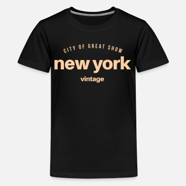 New York new York - Teenage Premium T-Shirt
