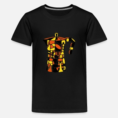 Cafetiere_Yopfred_201_3c - Teenager Premium T-Shirt