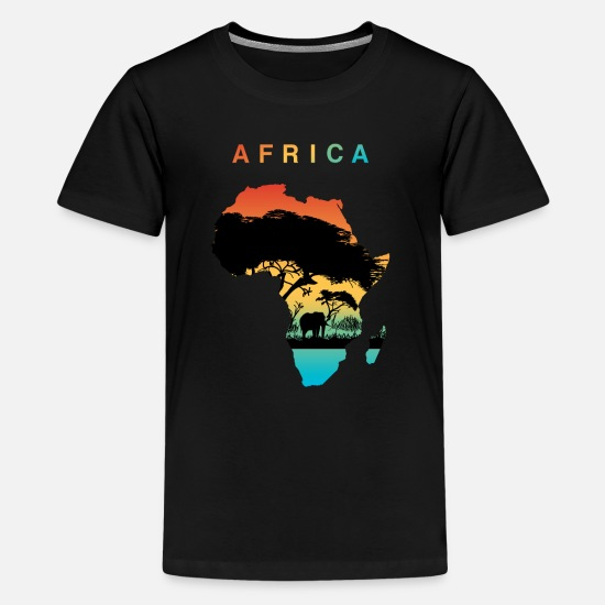 Africa T-Shirts - Africa - Teenage Premium T-Shirt black