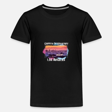 Male Friend Or Female Friend Griffith Observatory Los Angeles t-shirt design - Teenage Premium T-Shirt