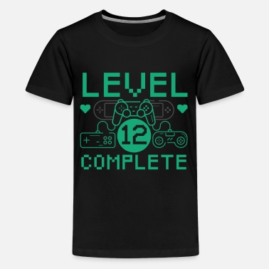 Level 12 Complete 12th Birthday Children's Gaming - Teenage Premium T-Shirt