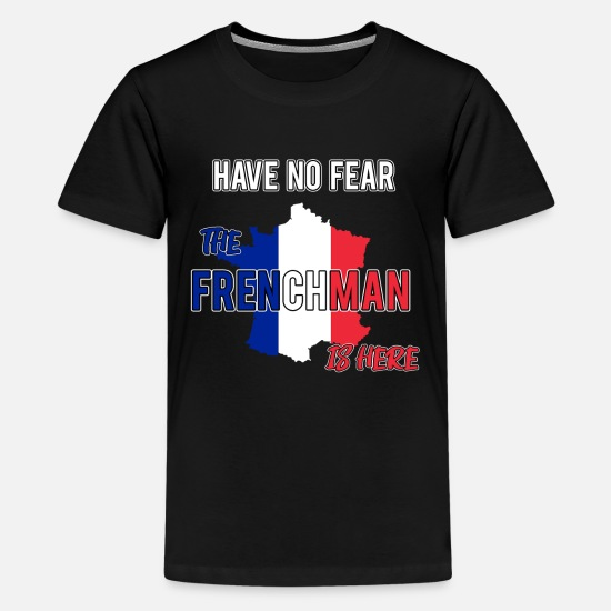 French T-Shirts - france french frenchman - Teenage Premium T-Shirt black