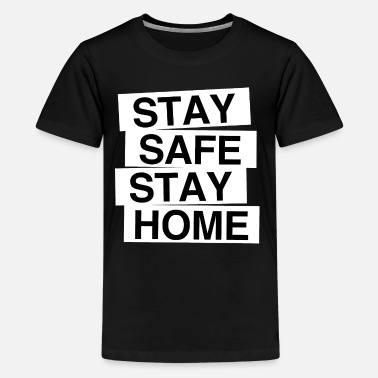 Stay Safe Box blanc - T-shirt premium Ado