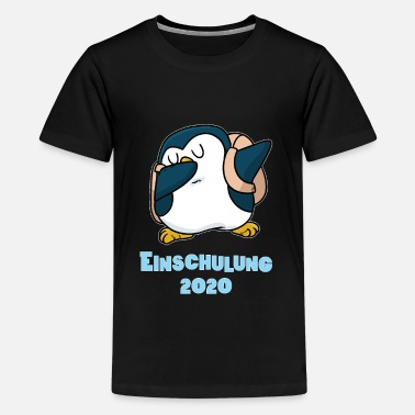 Speckled Penguin schooling 2020 first day of school - Teenage Premium T-Shirt
