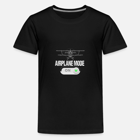 Flight T-Shirts - airplane mode on - Teenage Premium T-Shirt black