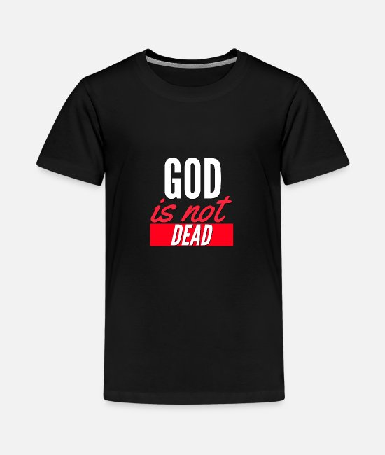 Kerk T-shirts - God is niet dood - Teenager premium T-shirt zwart