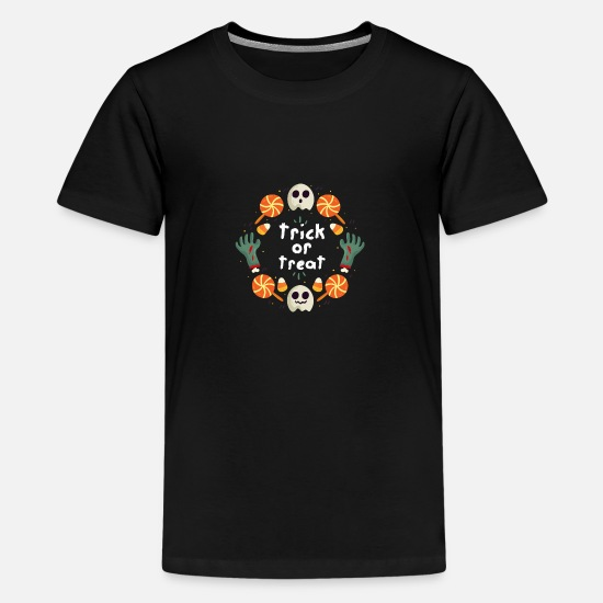 Gift Idea T-Shirts - Trick or Treat / Trick or Treat - Teenage Premium T-Shirt black