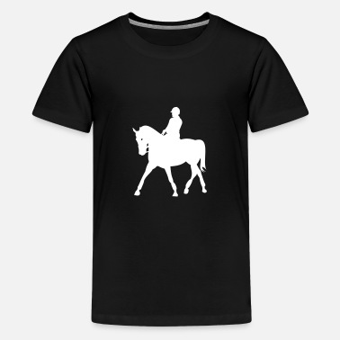 Step Horses, horse, riding, pony, cowboy, trot, Gallop - Teenage Premium T-Shirt
