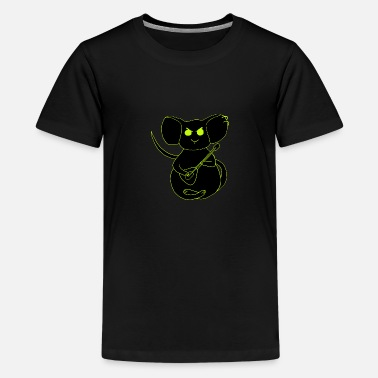 angry rock mouse neon - Teenage Premium T-Shirt