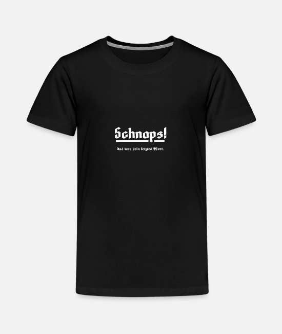 Party T-Shirts - Schnaps - Teenager Premium T-Shirt Schwarz
