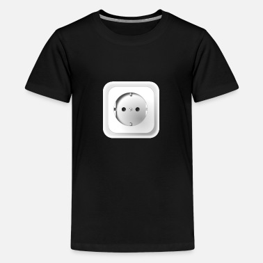 Outlet Electrical outlet - Teenage Premium T-Shirt