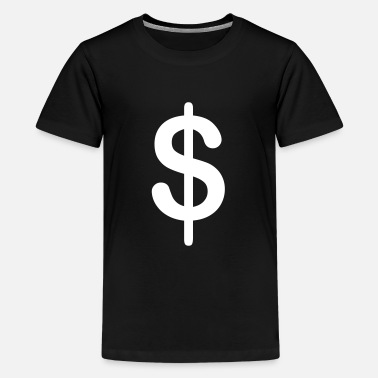 Dollar symbol - Teenage Premium T-Shirt
