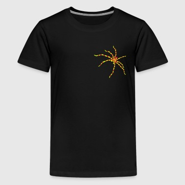 Striped spider - Teenage Premium T-Shirt